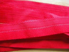 6m Schmuck-Falzgummi in mohn-rot Fb0102 - 25mm
