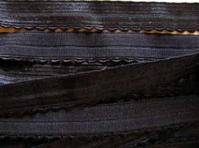 6m Schmuck-Falzgummi in schwarz Fb4000