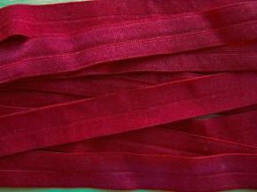 6m Falzgummi in dunkles kirsch-rot Fb0105