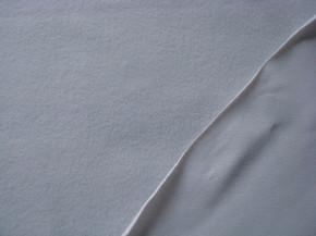 1m Flausch-Wirkfutter-Stoff in silber-grau Fb0343