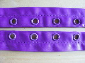2m Ösenband Satin in violett Fb0046