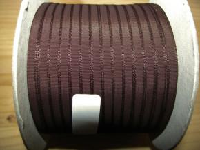 200m/1 Rolle Schleifchenband in negro-braun Fb1002