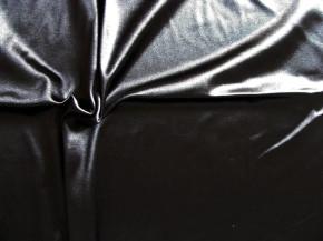 1m elastische, feste Glanz-Microfaser in schwarz Fb4000