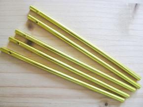 1 Set/5 Stk. Klangstäbe in gold - 16cm