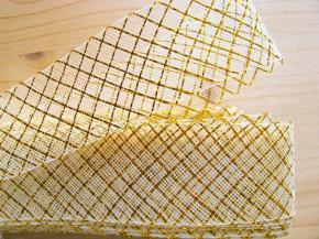 7m Crinoline - Versteifungsband/Lurex in gold Fb3600
