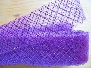 14m Crinoline - Versteifungsband/Lurex in violett/purple Fb0065