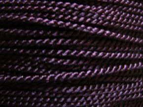 1m Atlas-Kordel in marron/aubergine Fb0793 - 2mm