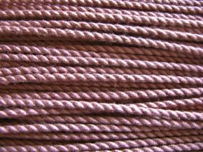 1m BW-Kordel in altrosa/rosè Fb0638 - 2mm