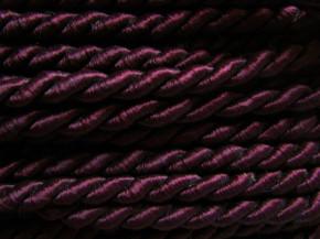 1m Atlas-Kordel in dunklem bordeaux F0111- 8mm