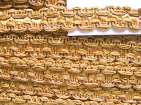 1m Web-Viskose-Borte in ocker-gold Fb1130