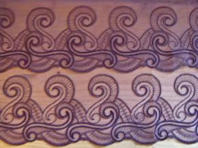 2m gegengleiche Stickerei-Dessousspitze für symmetrische BH-Körbchen