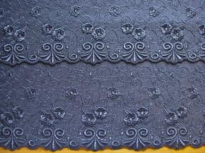 2m gegengleiche Dessous-Spitze in indigo/jeans-blau Fb1467