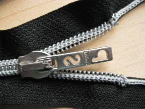 Jacken-Reißverschluss teilbar in schwarz 74cm