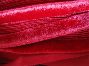 6m Samtband elastisch in royal-rot Fb0503