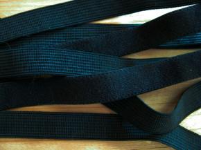 6m zarter Velour-Gummi in schwarz Fb4000