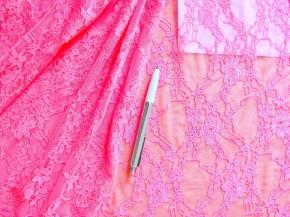 1m bi-elastische All-Over-Spitze in neon-pink Fb1421
