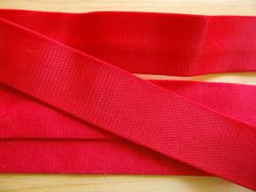 5m Satin-Träger-Gummi in kirsch-rot Fb0504