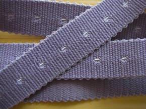5m Träger-Gummi/Schulterband in metall-lila Fb0012