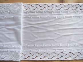 1m quer-elastische Stickerei-Spitze in rein-weiß Fb2000