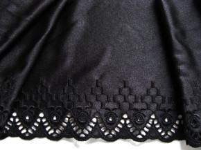 1m bestickte Dessous-Spitze in schwarz Fb4000