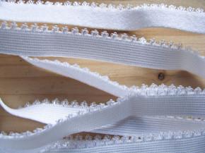 6m Wäsche - Unterbrustgummi in rein-weiß Fb2000