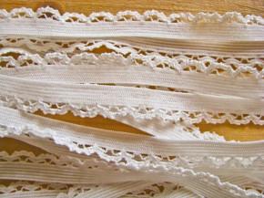 6m Schmuck-Wäschegummi in off-white/ecru Fb1451