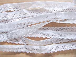 6m Schmuck-Wäschegummi in rein-weiß Fb2000