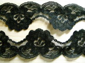 3m zarte Zierspitze in schwarz Fb4000