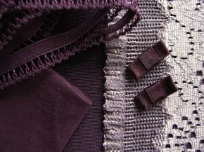 "1 Pkt. Materialpaket ""Aubergine-Look"" - Slipset"