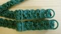 1 Paar fertige Träger in smaragd-grün