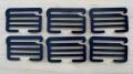6 XL-Schieber/Haken Metall in abend-blau