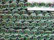 5m Zier-Borte mit Lurexfäden in grün