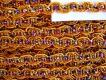 5m Zier-Borte mit Lurexfäden in orange-gold