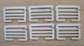6 XL-Schieber/Haken Metall in rein-weiß