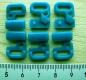 3 Paar Verschlüsse in petrol/d.cyanin Fb0483