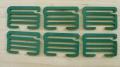 6 XL-Schieber/Haken Metall in grün